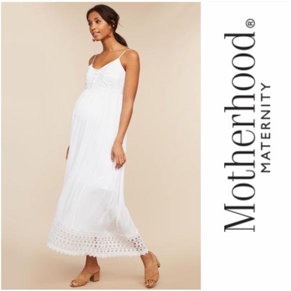 4680212e518 Motherhood Maternity Lace Trim Dress M